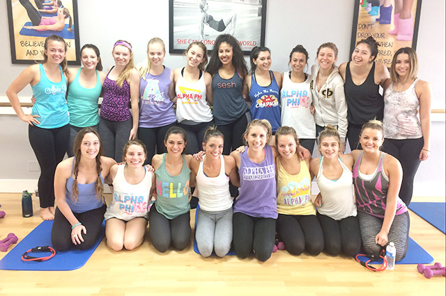 Chapman University Fitness Group classes fun sorority panthers fuller titans